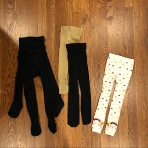 Hanna Andersson & others 5 pairs tights 2-4 yrs